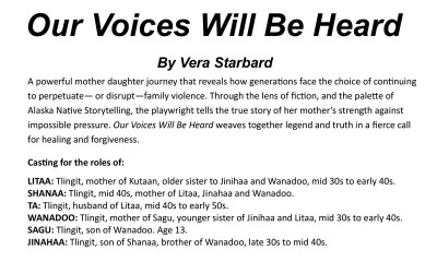 Auditions for Our Voices Will Be Heard